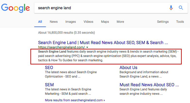 google-snippet